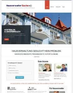 Die neue HausverwalterSuche-Homepage